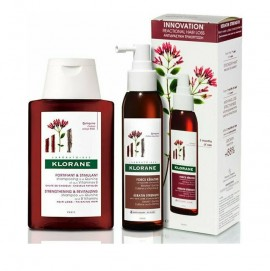 Klorane Promo Quinine Force Keratine Strength Anti-Hair Loss Concentrate 125ml & Quinine Fortifying Treatment Shampoo 100ml