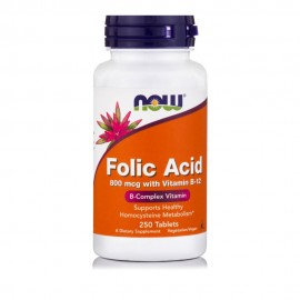 Now Foods Folic Acid 800 mcg with Vitamin B-12, 250Tablets