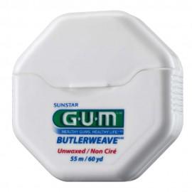 Gum ButlerWeave Unwaxed (1055), Οδοντικό Νήμα Ακύρωτο 50m