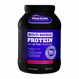 Multi Source Protein 80g Strawberry, Μίγμα 4 Πρωτεϊνών, Γεύση Φράουλα 750gr