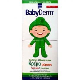 Intermed Babyderm Baby Cream 0-6 Ετών, Ενυδατική & Προστατευτική Κρέμα Σώματος Με Ωμέγα 3-6,125ml