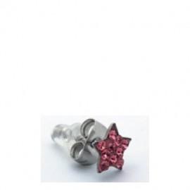 Inoplus, Υποαλλεργικά Σκουλαρίκια Ροζ Αστέρι 2τμχ
