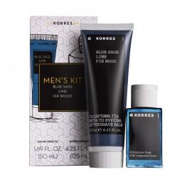Korres Men's Essentials, Ανδρικό Άρωμα Blue Sage / Lime / Fir Wood, 50ml & ΔΩΡΟ AfterShave, 125ml