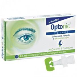 Intermed Optonic Οφθαλμικές σταγόνες με Υαλουρονικό οξύ, ΒΤ x 10Amp