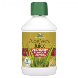Optima Aloe Vera Juice with Cranberry 100% Φυσικός Χυμός Αλόης 500 ml