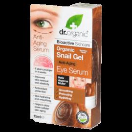 Dr.Organic Snail Gel Anti-Aging Eye Serum Αντιγηραντικός Ορός Ματιών με Βιολογικό Έκκριμα Σαλιγκαριού 15ml