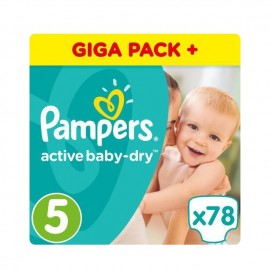 Pampers Active Baby Dry Giant Pack No5 (11-16kg) 78 Τμχ