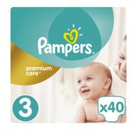 Pampers Premium Care New Born No3 Midi (5-9kg) 40τμχ