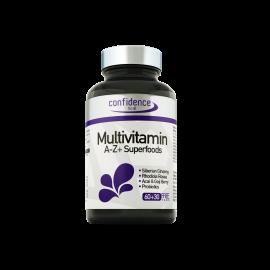 Confidence Multivitamin A-Z + Superfoods, Πολυβιταμίνες για Κόπωση & Αδυναμία, 90 tabs (60+30 Δώρο)