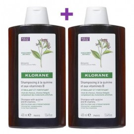 Klorane Shampooing a La Quinine, Σαμπουάν με Κινίνη για Δυνατά Μαλλιά (Τριχόπτωση) 2X400ml Το 2ο Προϊόν στη Μισή Τιμή
