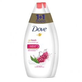Dove Go Fresh Revive, Ενυδατικό Αφρόλουτρο με Άρωμα Ρόδι 2τμχ x 750ml