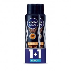 Nivea Men Stress Protect Spray Ανδρικό Αποσμητικό 1+1 Δώρο 150ml