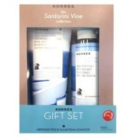 Korres Gift Set, Αμπέλι Σαντορίνης Γαλάκτωμα Σώματος 200ml & Αφρόλουτρο 250ml