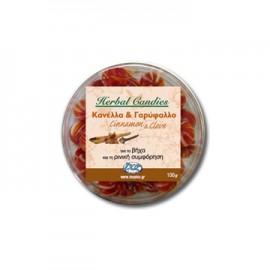 Inoplus Herbal Candies Cinnamon&Clove Καραμέλες για το Βήχα και τη Ρινική Συμφόρηση με Κανέλα-Γαρύφαλλο 70gr