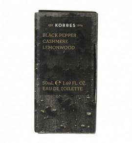 Korres Black Pepper Cashmere Lemonwood Male Fragrance, Νέο Ανδρικό Άρωμα 50ml