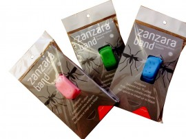 Zanzara Band Εντομοαπωθητικό Αδιάβροχο Βραχιόλι, ΜΠΛΕ  Άνω των 2 Ετών, 1 Τεμάχιο, Size Small/Medium