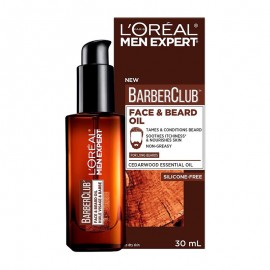 LOreal Men Expert BarberClub Έλαιο για Πρόσωπο & Μούσια 30ml