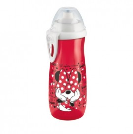 Nuk First Choice PP Sports Cup 36m+ Disney Minnie Παγουράκι με Καπάκι Push-Pull Κόκκινο 450ml