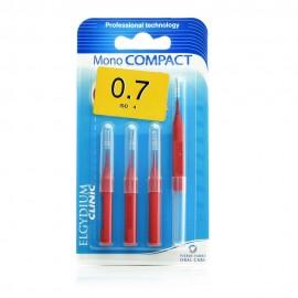 Elgydium Clinic Monocompact, Μεσοδόντια Βουρτσάκια 0.7mm 4τμχ
