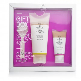 Youth Lab Spring Gift Box Normal-Dry Skin, Daily Cleanser & CC Complete Cream SPF30 & Beauty Tool
