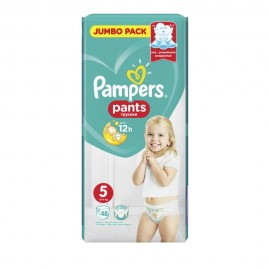 Pampers Jumbo Pack Pants No 5 Extra Large (12-17kg+) 48τμχ