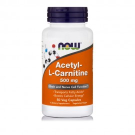 Now Foods Acetyl L-Carnitine 500mg, 50 Veg Caps