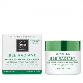 Apivita BEE RADIANT Κρέμα Αντιγήρανσης & Λάμψης,με Βλαστοκύτταρα Πορτοκαλιού, Ελαφριά Υφή 50ml