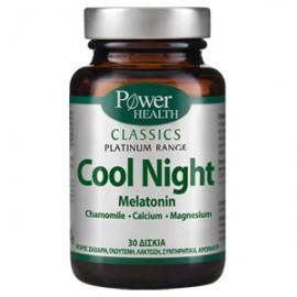 Power Health Classics Platinum Cool Night, Αντιμετώπιση της Αϋπνίας χωρίς Παρενέργειες 30 κάψουλες