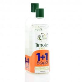 Timotei Pure Shampoo , Σαμπουάν με Βιολογικό Εκχύλισμα Πράσινου Τσαγιού 400ml + 300ml