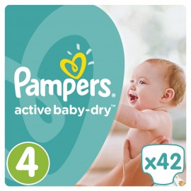 Pampers Active Baby Dry No4 (8-14Kg) 42Τμχ