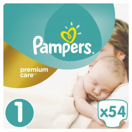 Pampers Premium Care New Baby No.1 (2-5 kg) 54Τμχ