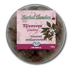 Inoplus Herbal Candies Ginseng, Καραμέλες για Τόνωση 70gr