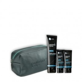 Panthenol Extra Men Promo Γκρι, Face and Eye Cream 75ml & After Shave Balm 75ml & 3 in 1 Cleanser 200ml