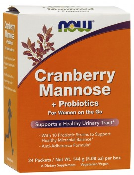 Now Foods Cranberry Mannose Probiotics For Women On The Go 24 Packets