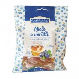 Carraro Καραμέλες για το Λαιμό Μέλι & Μύρτιλλο 100gr