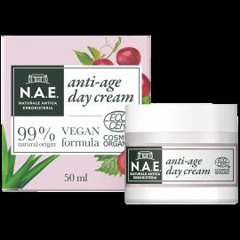 N.A.E Αντιγηραντική κρέμα ημέρας εμπλουτισμένη με Υαλουρονικό οξύ, Οργανική Πιστοποίηση COSMOS  & Vegan φόρμουλα, 50ml