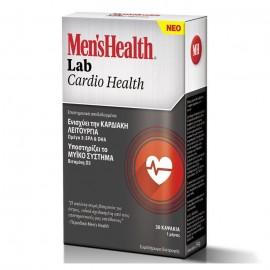Omega Pharma Mens Health Lab Cardio Health, Συμπλήρωμα Διατροφής για Καλή Καρδιακή Λειτουργία 30Caps
