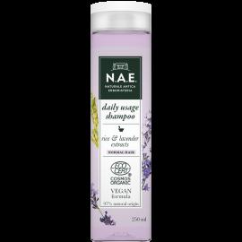 N.A.E. Σαμπουάν καθημερινής χρήσης για κανονικά μαλλιά, Οργανική Πιστοποίηση COSMOS  & Vegan φόρμουλα, 250 ml