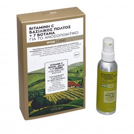 Vican Wise Land Βιταμίνη C, Βασιλικός Πολτός + 7 Βότανα, Spray για το Ανοσοποιητικό 75ml