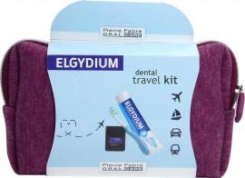 Elgydium Dental Travel Kit Μπορντώ Νεσεσέρ
