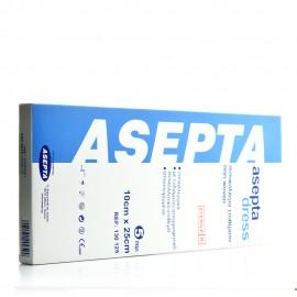 Asepta Dress, Αυτοκόλλητα Επιθέματα Υποαλλεργικά Αποστειρωμένα 10cm x 25cm 5τμχ