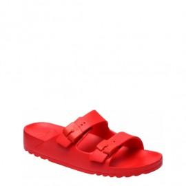 Scholl Bahia Ανατομικό Σανδάλι Κόκκινο Χρώμα Νο39