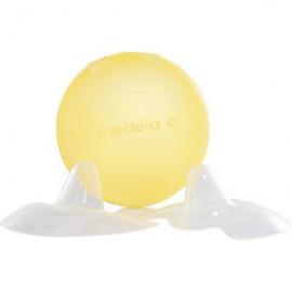 Medela Contact Nipple Shields – Ψευδοθηλές Σιλικόνης με θήκη
