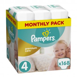 Pampers Monthly Pack Premium Care No 4 (8-14Kg) 168Τμχ