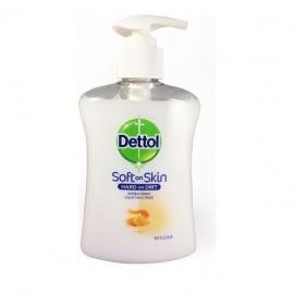 Dettol Soft On Skin Αντιβακτηριδιακό Κρεμοσάπουνο με Μέλι 250ml