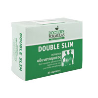 Doctors Formulas Double Slim Διπλή Φόρμουλα Αδυνατίσματος, 60 Δισκία