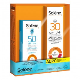 Solene Promo Suncare Face Cream Dry Touch SPF50 50ml & ΔΩΡΟ Milk Body Spray SPF30 150ml