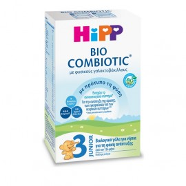 Hipp Bio Combiotic No3 Junior Βιολογικό Γάλα για Νήπια Νέα Φόρμουλα 600g
