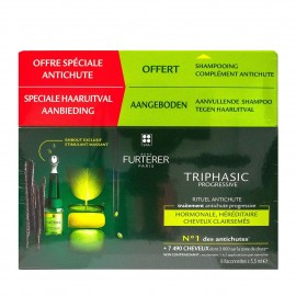 Rene Furterer Promo Triphasic Serum Progressive 8x 5.5ml & Anti Hair Loss Shampoo 100 ml