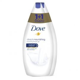 Dove Deeply Nourishing Body Wash, Αφρόλουτρο Εντατικής Ενυδάτωσης 2τμχ x 750ml